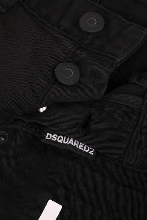 גילאי 4-16 מכנסי ג'ינס שחורים עם כיתוב ממותג על הצד DSQUARED2 KIDS
