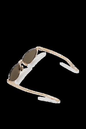 Metal Half-Rim Sunglasses in Gold BOTTEGA VENETA