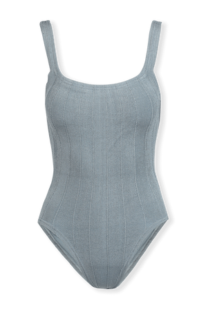 Square Neck Swimsuit in Blue HUNZA G