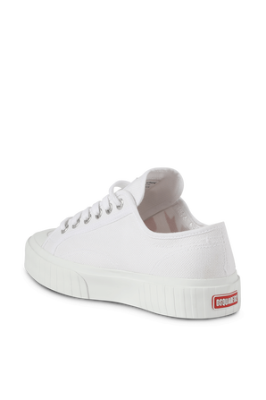 DSQUARED x Superga Logo Print Sneakers in White DSQUARED2