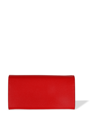 Flap Continental Leather Wallet in Red VALENTINO GARAVANI