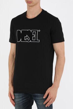חולצת טי עם לוגו גרפי בצבע שחור DIESEL