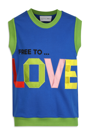 Free To Love Cotton Top in Blue AZ FACTORY