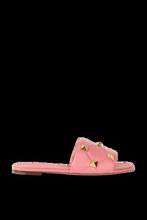 Stud Slide Mules in Pink VALENTINO