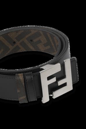 Reverisble Leather Belt in Brown FENDI