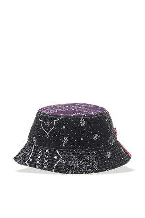 Patchwork Bucket Hat in Blue and Red LEVI`S