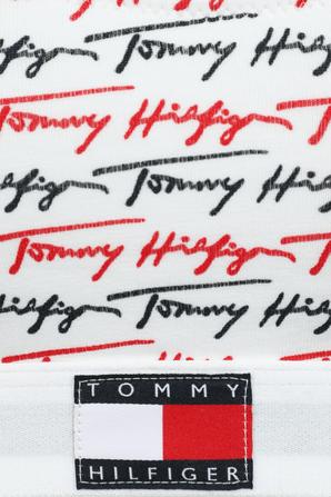 Signature Logo Bralette in White TOMMY HILFIGER