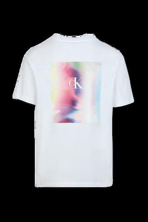 Pride - Back Logo T-Shirt in White CALVIN KLEIN