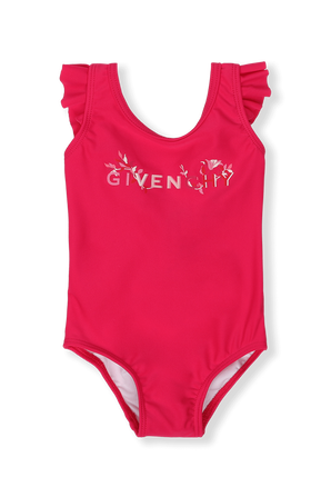 גילאי 6-18 חודשים בגד ים שלם ורוד קצר GIVENCHY KIDS
