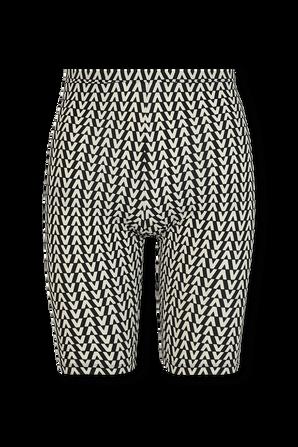 Biker Shorts in Black and White VALENTINO