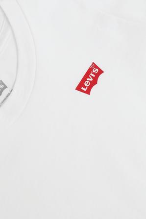 גילאי 4-6 טי שירט לבנה עם לוגו מוקטן LEVI`S KIDS