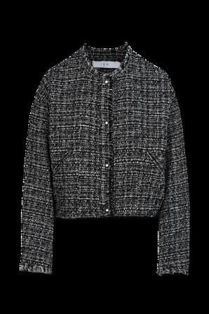 Oluna Collarless Knit Tweed Jacket IRO
