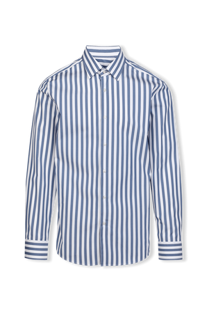 Striped Cotton Slim-Fit Shirt BOSS
