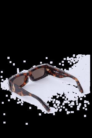 Mini Mafra Sunglasses in Brown and Yellow THE ATTICO