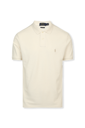Classic Slim Fit Polo Shirt in Ivory POLO RALPH LAUREN
