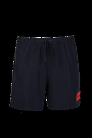 Double Waistband Swim Shorts in Black CALVIN KLEIN