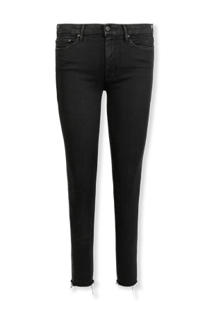 The Looker Ankle Jeans in Black MOTHER