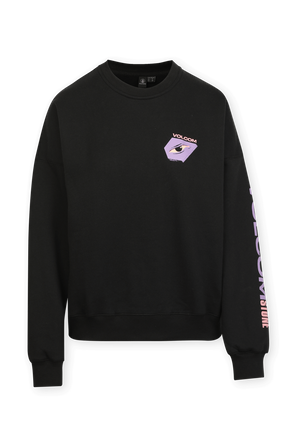 Mentrip Crew Sweatshirt in Black VOLCOM
