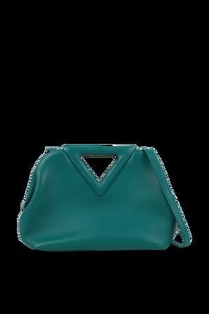 The Triangle Bag in Turquoise Leather BOTTEGA VENETA