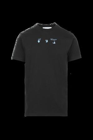 Black Liquid Mirko Print T-Shirt OFF WHITE