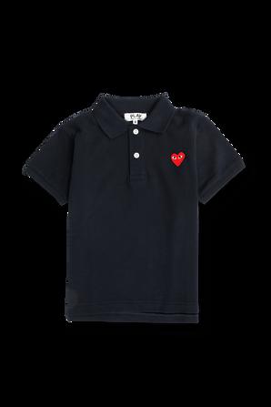 חולצת פולו בכחול נייבי עם מיני לוגו PLAY COMME des GARCONS KIDS
