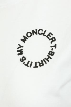 Logo Tee in White MONCLER