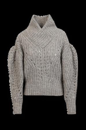 סוודר בסריגת ריב בצבע בז' IRO