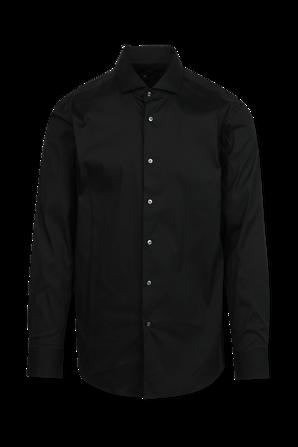 Jason Straight Fit Business Shirt in Black BOSS