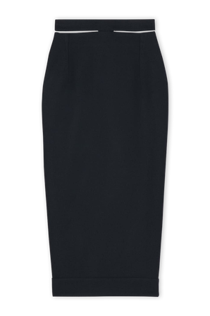 La Jupe Valerie Midi Skirt in Black JACQUEMUS