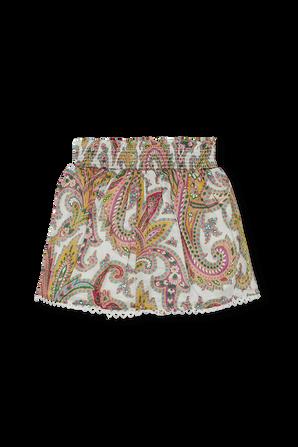 גילאי 1-10 מכנסיים קצרים בהדפס פייזלי ZIMMERMANN KIDS