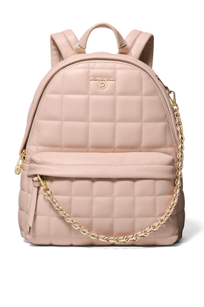 Slater MD Quilted Leather Backpack in Soft Pink MICHAEL KORS