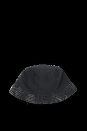 כובע באקט שחור עם פאצ לוגו MONCLER KIDS
