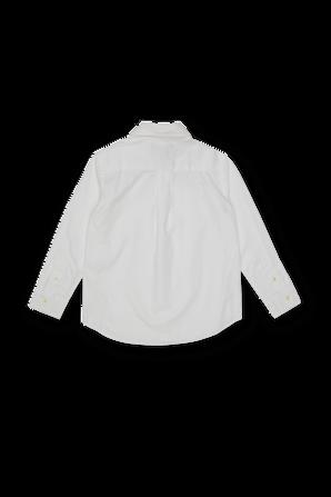 גילאי 5-7 חולצת פולו מכופתרת בגוון לבן POLO RALPH LAUREN KIDS