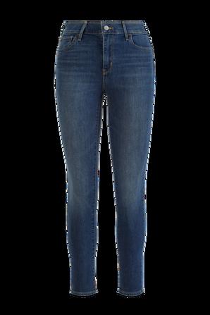 High Rise Super Skinny Jeans in Blue LEVI`S