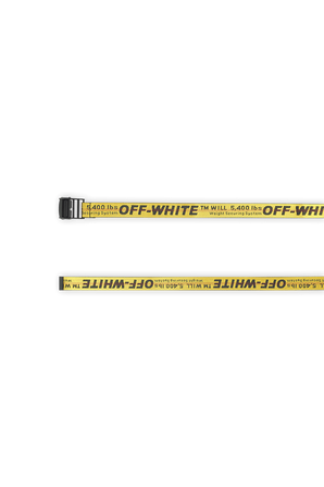 Classic Industrial Web Belt In Yellow OFF WHITE