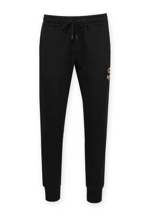Jogging Pants With Embroidery in Black DOLCE & GABBANA