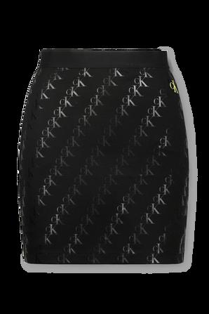 Milano Jersey Printed Mini Skirt in Black CALVIN KLEIN