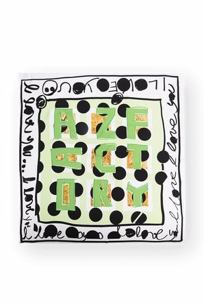 Polka Dot Print Silk Scarf AZ FACTORY
