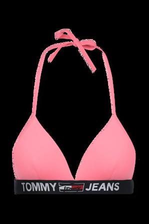 Logo Underband Triangle Bikini Top in Pink TOMMY HILFIGER