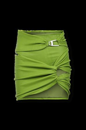 Asymetric Gonna Mini Skrit in Green THE ATTICO