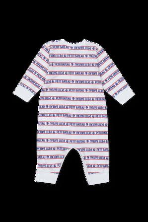 גילאי 3-36 חודשים אוברול שינה בהדפס לוגו PETIT BATEAU