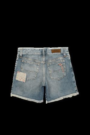 מכנסי ג'ינס קצרים עם רקמות ופרמים POLO RALPH LAUREN KIDS