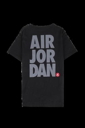 גילאי 8-16 חולצת לוגו בשחור עם כיתוב בגב JORDAN