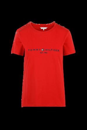 Logo T-Shirt in Black TOMMY HILFIGER