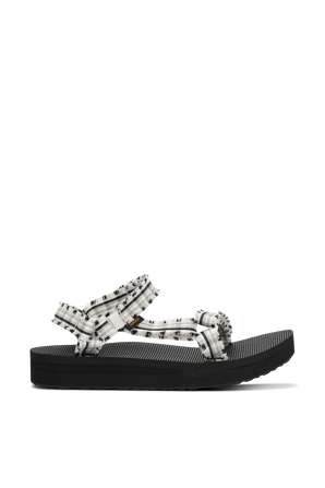 Midform Fray Frazier Sandals in White and Black TEVA