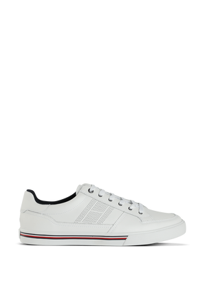 Core Corporate Leather Sneaker In White TOMMY HILFIGER