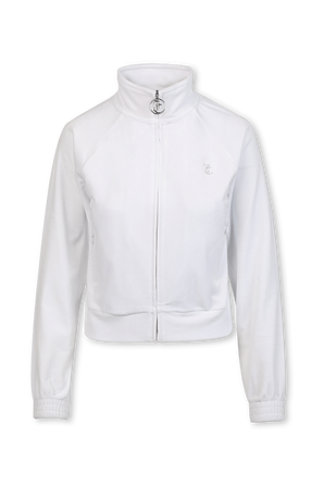 White Velour Tracktop Jacket JUICY COUTURE