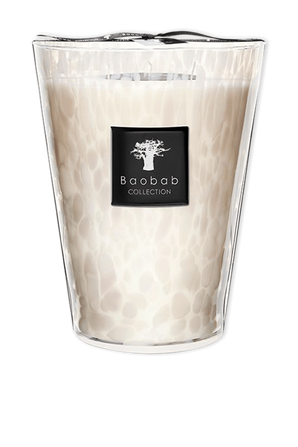 Max 24 White Pearls Candle BAOBAB