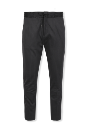 Extra Slim Fit Stretch Jersey Trousers in Blue HUGO