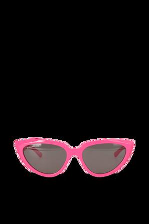 Tip Cat Logo Sunglasses in Pink BALENCIAGA